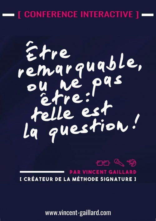 Affiche Confe rence Remarquable